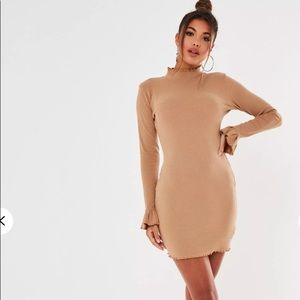 Missguided ribbed High neck mini dress NWT